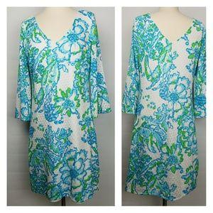 Lilly Pulitzer Alden Crochet floral tunic dress